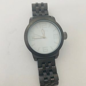 Black Kenneth Cole stainless steel watch